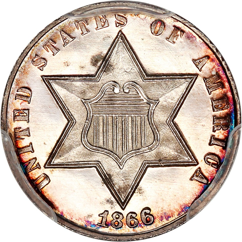 sample image for Three-Cent Silver, Ty. 3 [Type]