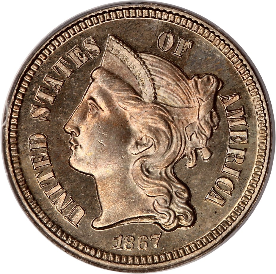 sample image for Three-Cent Nickel [Type]