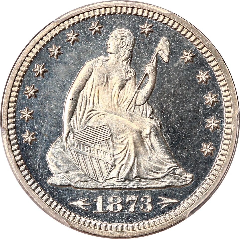 Liberty Seated Quarters (Proof) image