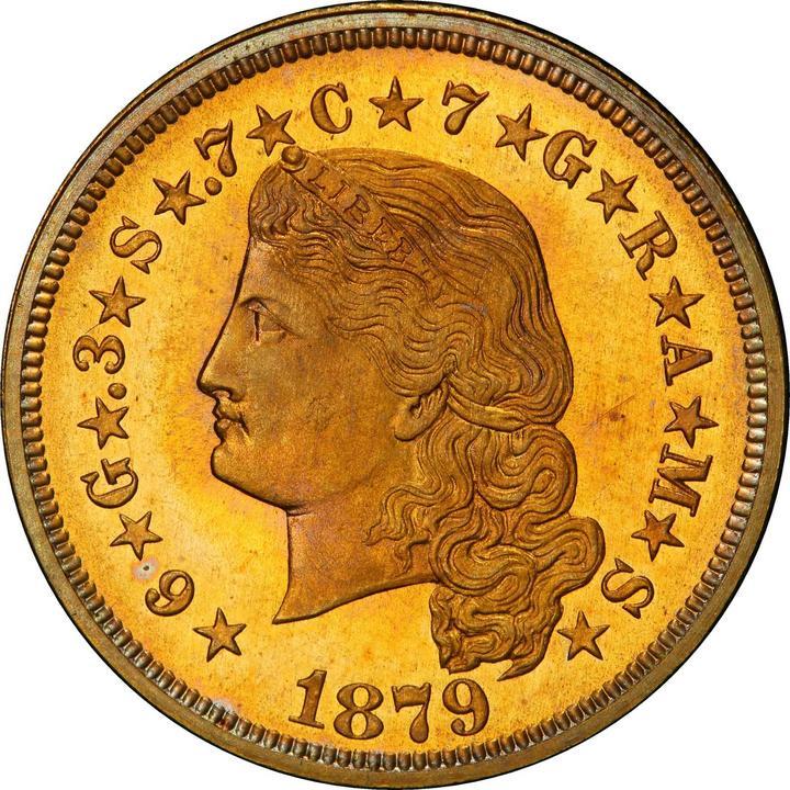 sample image for 1879-1880 Stella $4  PR Flowing Hair [Type]