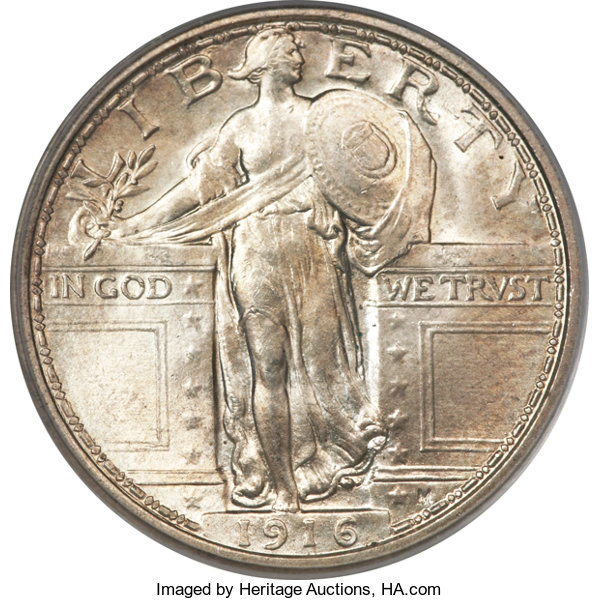 sample image for Standing Liberty Quarter, Ty. 1 [Type]