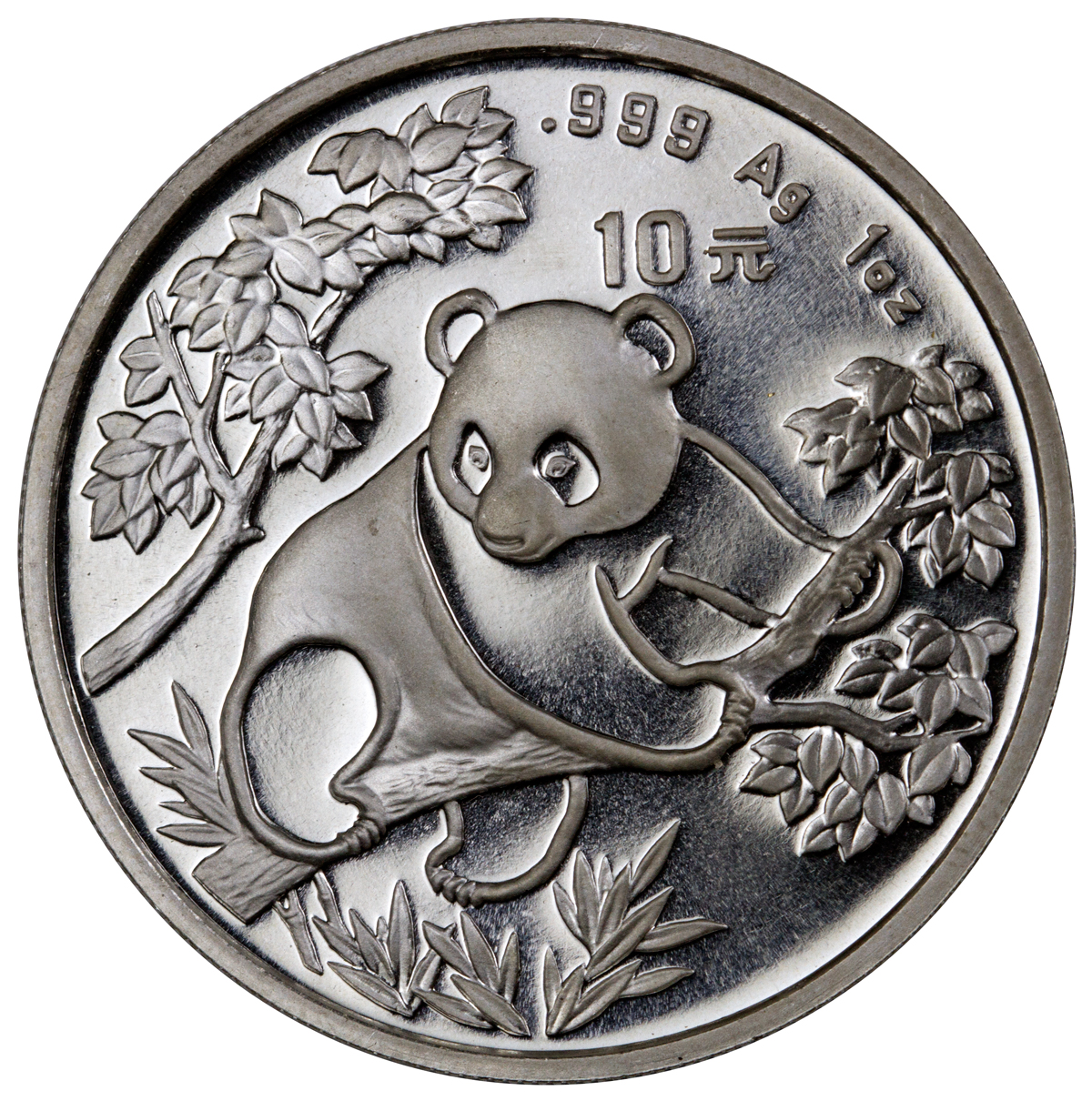 sample image for 1992 10Y MS Panda Small Date