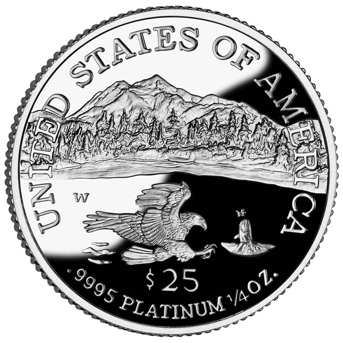 sample image for 1997-2008 Platinum Eagle $25  PR DCAM [Type]