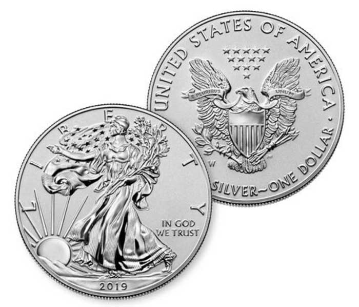 sample image for 2019-W Silver Eagle $1  PR Pride of Two Nations Enhanced Reverse Proof