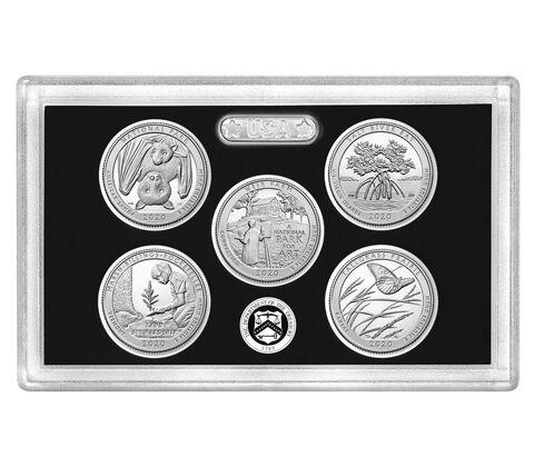 sample image for 2020-S Silver Quarters Proof Set 25c PR DCAM 5 Coins