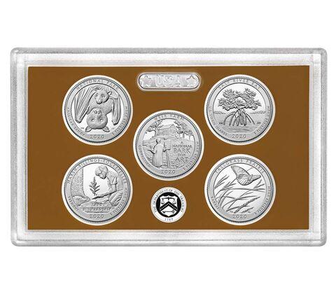 sample image for 2020-S Clad Quarters Proof Set 25c PR DCAM 5 Coins