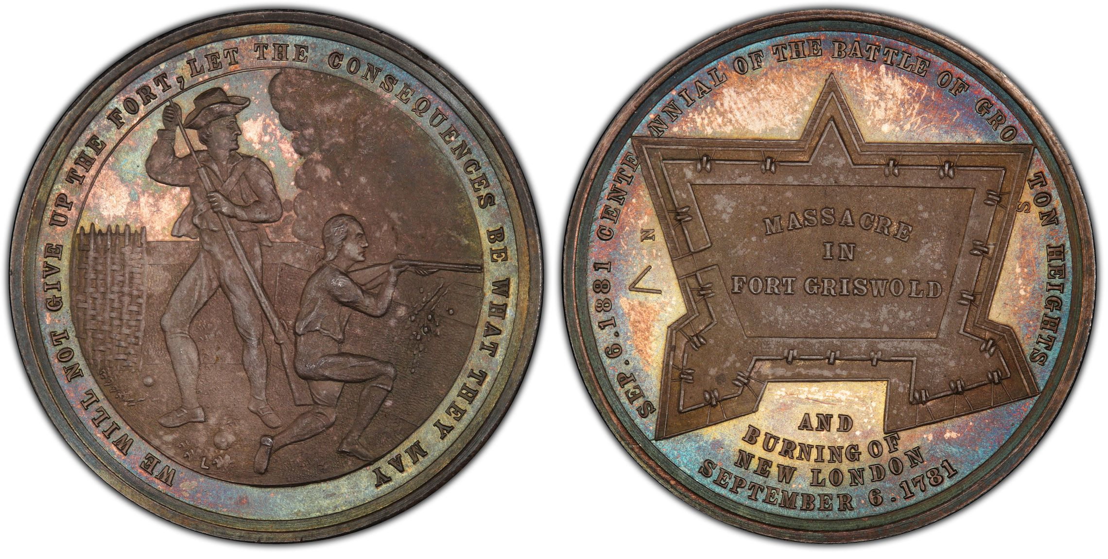 sample image for 1881 Battle of Groton Heights, Silver SC$1 MS (HK-125c)