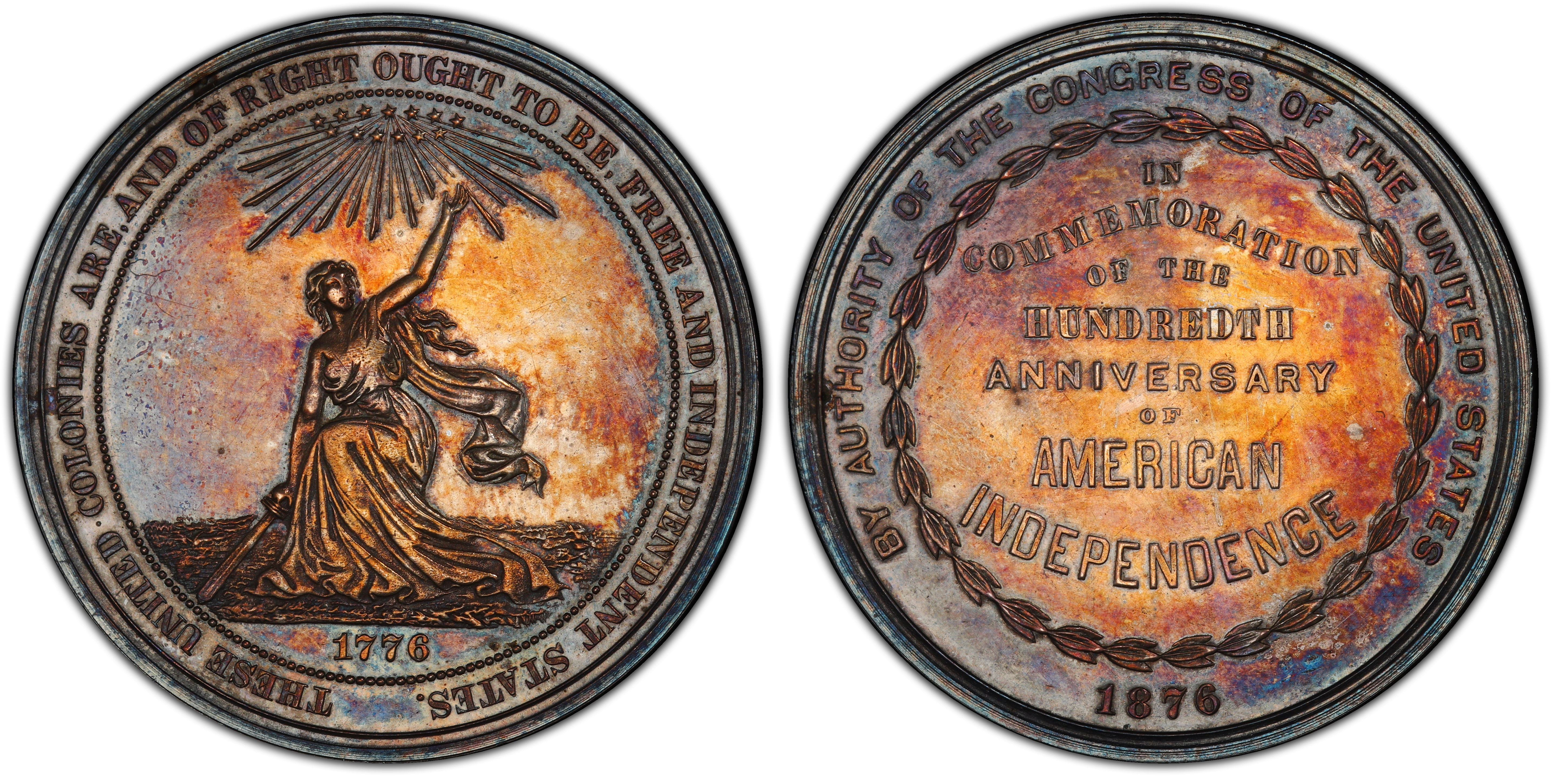 sample image for 1876 U.S. Centennial, Silver SC$1 MS (HK-20)