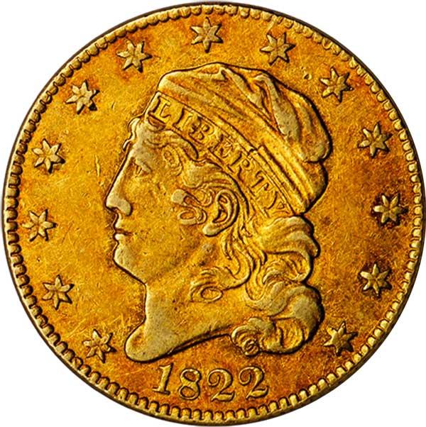 sample image for 1822 $5  MS