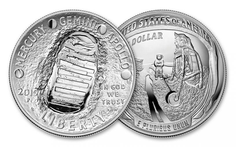 sample image for 2019-P Apollo 11 5oz. $1  PR DCAM