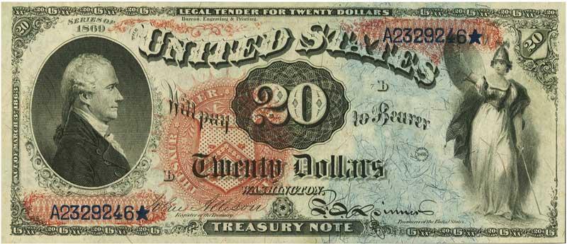 sample image for 1869 $20  (Fr.# 127)