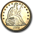 Seated Dollars (Proof) image