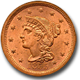 Large Cents - Brown image