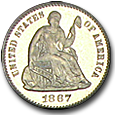 Liberty Seated Half Dimes (Proof) image