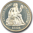 Liberty Seated Dimes (Proof) image