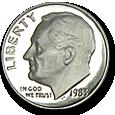 Roosevelt Dimes (Proof) image