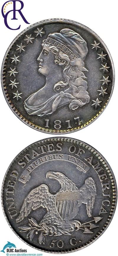 Image of 1817/4 50c  PCGS AU50 (O-102a) ex:Eliasberg