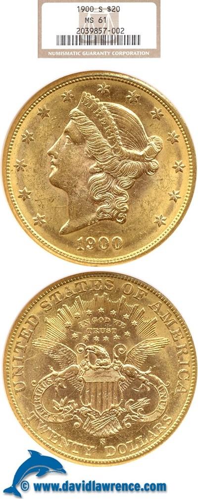 Image of 1900 $20  NGC MS61
