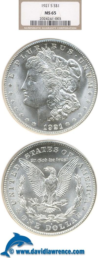 Image of 1921-S $1  NGC MS65