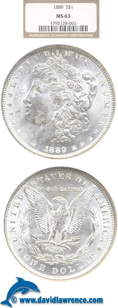 Image of 1889 $1  NGC MS63