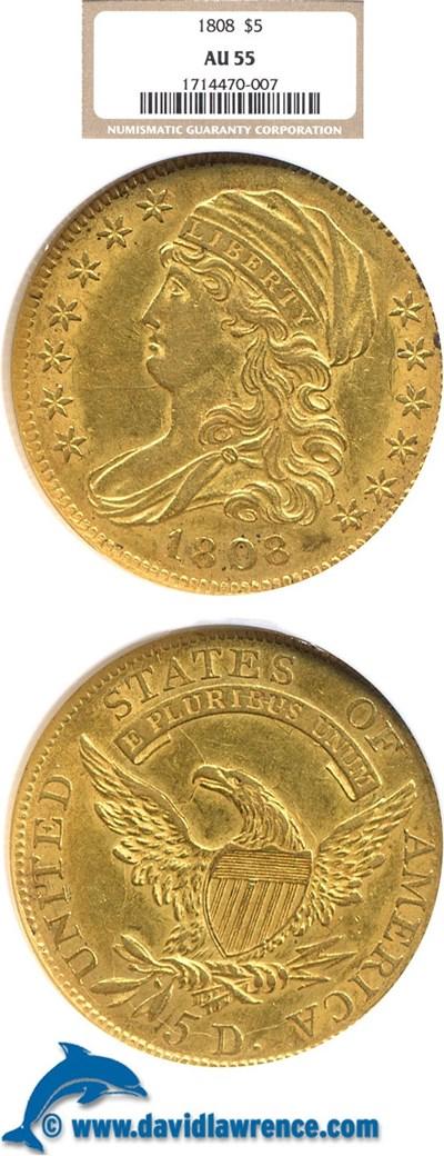 Image of 1808 $5  NGC AU55