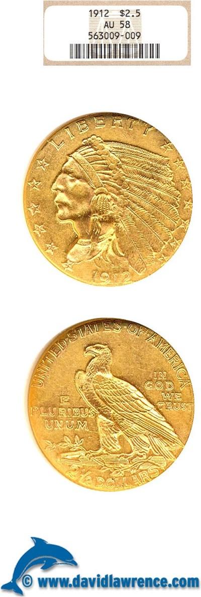 Image of 1912 $2 1/2  NGC AU58