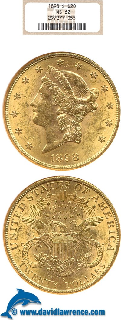 Image of 1898-S $20  NGC MS62