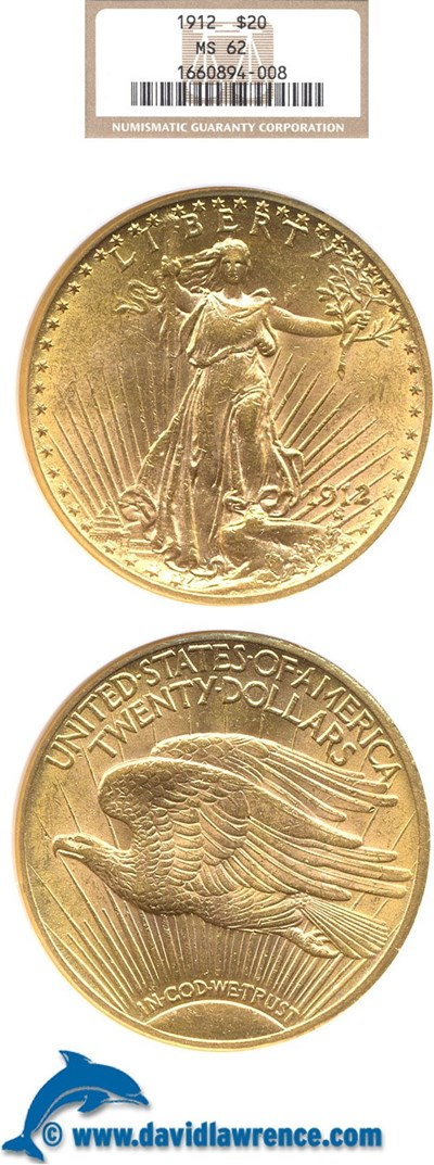 Image of 1912 $20  NGC MS62