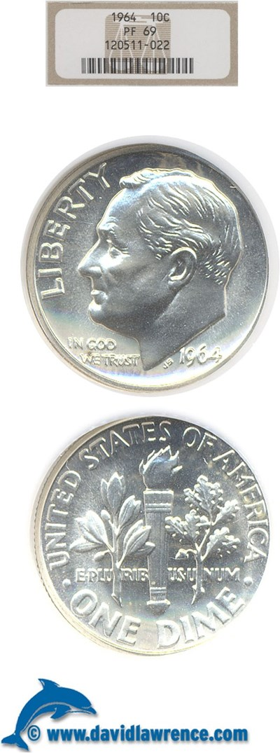 Image of 1964 10c  NGC Proof 69