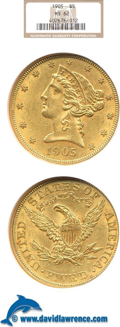 Image of 1905 $5  NGC MS62