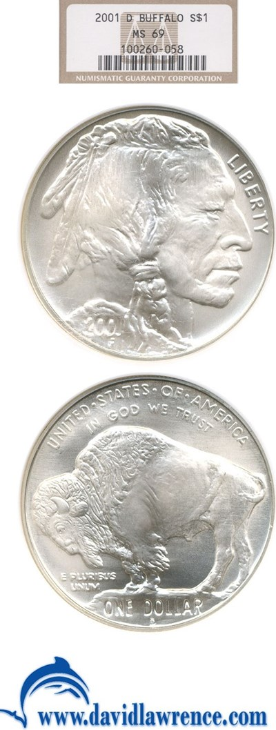Image of 2001-D $1 Buffalo NGC MS69