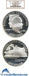 Image of 1990-P $1 Eisenhower NGC Proof 69 UCameo