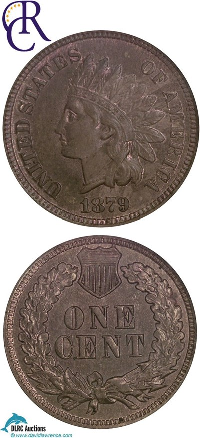Image of 1879 1c  NGC MS64 RB ex: Richmond Collection