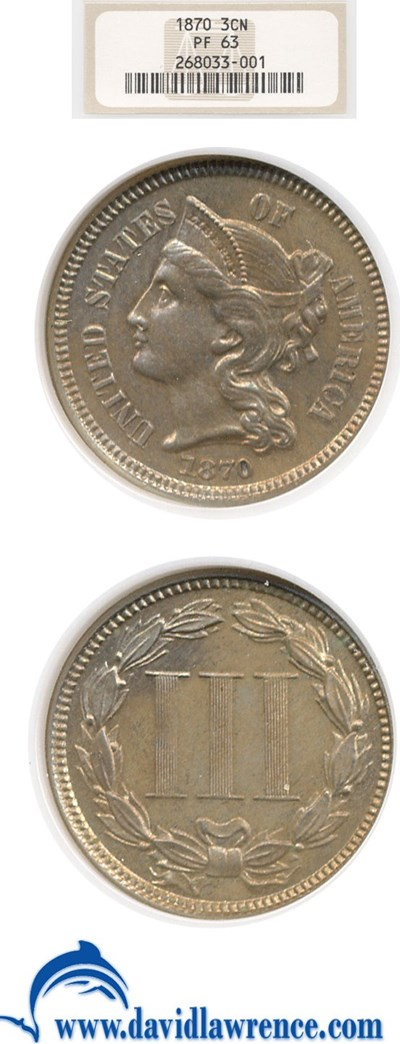 Image of 1870 3cN  NGC Proof 63