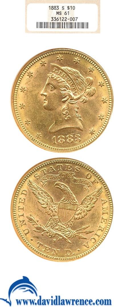 Image of 1883-S $10  NGC MS61