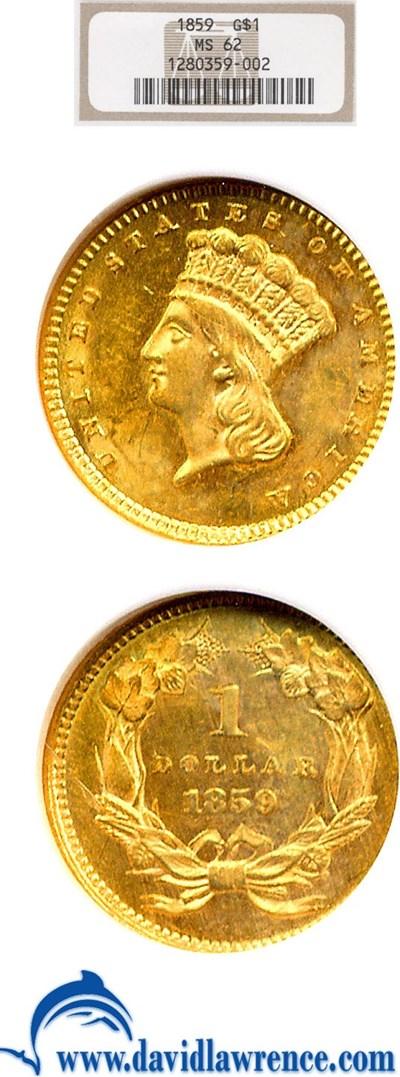 Image of 1859 G$1  NGC MS62
