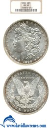 Image of 1890 $1 NGC MS63