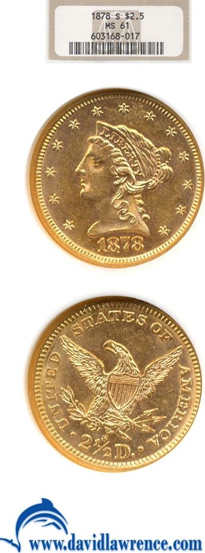 Image of 1878-S $2 1/2  NGC MS61