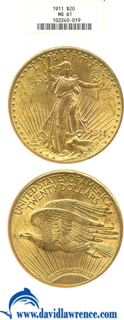 Image of 1911 $20  NGC MS61