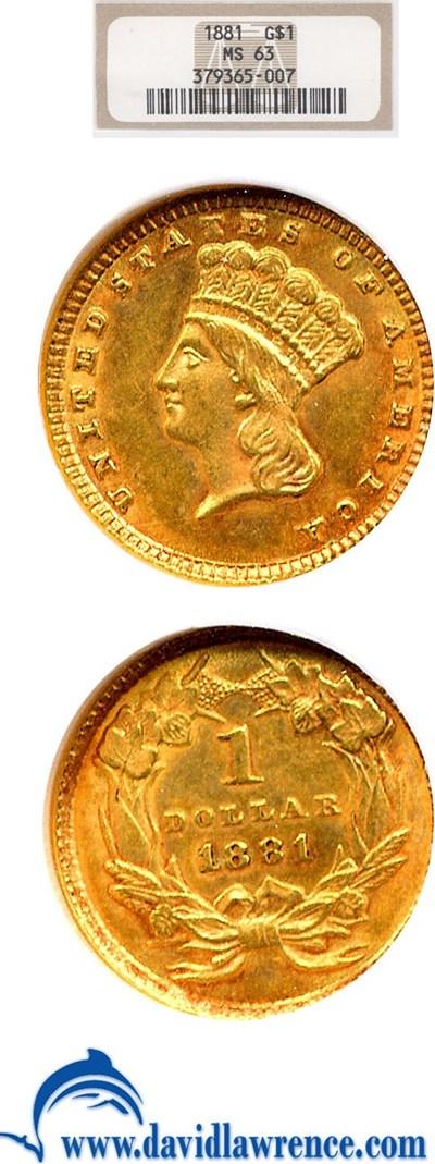 Image of 1881 G$1  NGC MS63