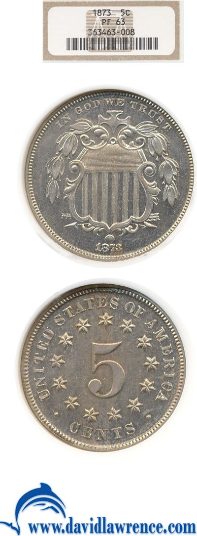 Image of 1873 5c  NGC Proof 63