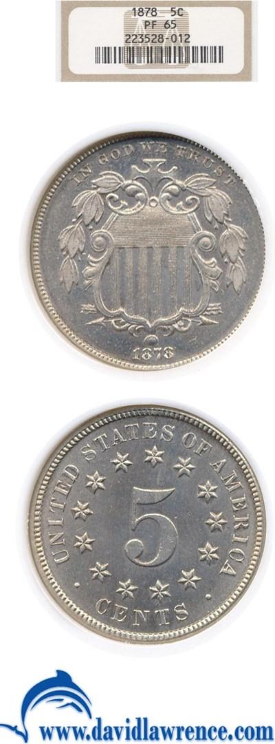 Image of 1878 5c  NGC Proof 65