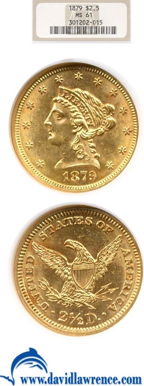 Image of 1879 $2 1/2  NGC MS61