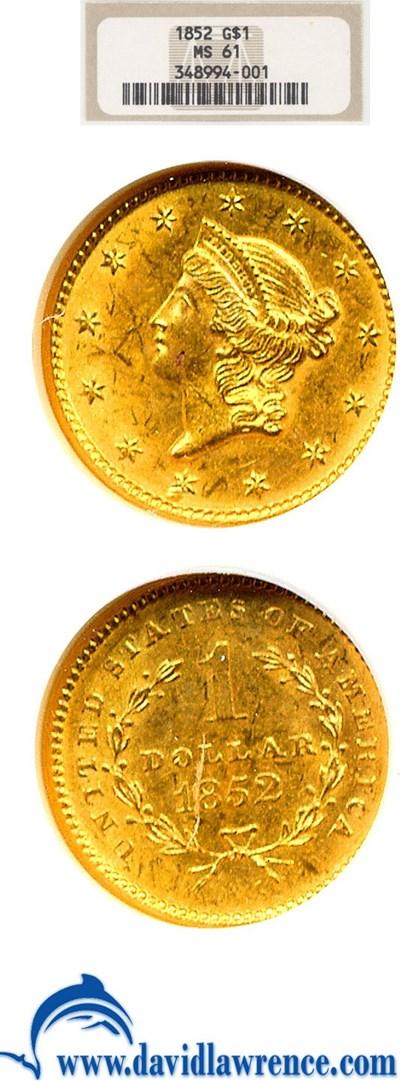 Image of 1852 G$1  NGC MS61