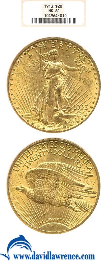 Image of 1913 $20  NGC MS61