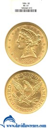 Image of 1894 $5  NGC MS61