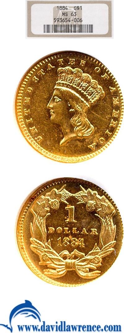Image of 1884 G$1  NGC MS63