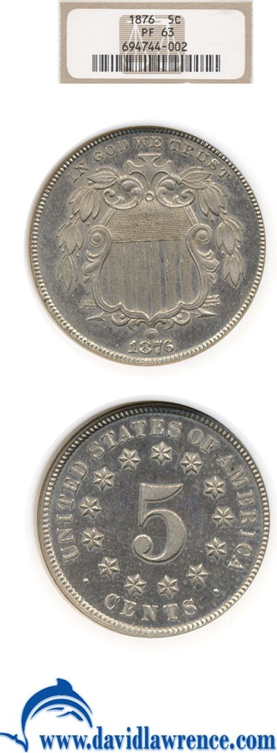 Image of 1876 5c  NGC Proof 63