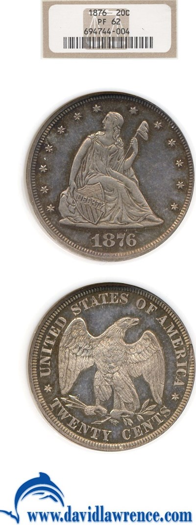 Image of 1876 20c  NGC Proof 62
