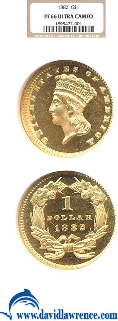 Image of 1882 G$1  NGC Proof 66  Ultra Cameo